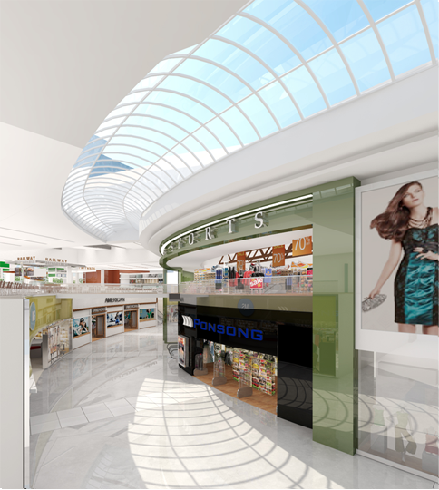 Rendering of interior, Sherway Gardens Redevelopment (Source Cadillac Fairview Corporation).