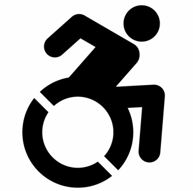 The new Accessibility Icon (black on white graphic) to replace International Symbol of Accessibility