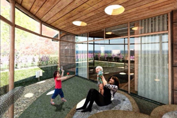 Rendering of interior space for the ABLE housing project (Source: World CP Day website)