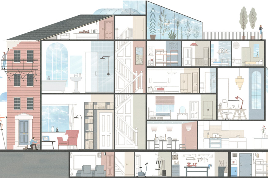 Rendering of typical residential design features (Source: AIA)
