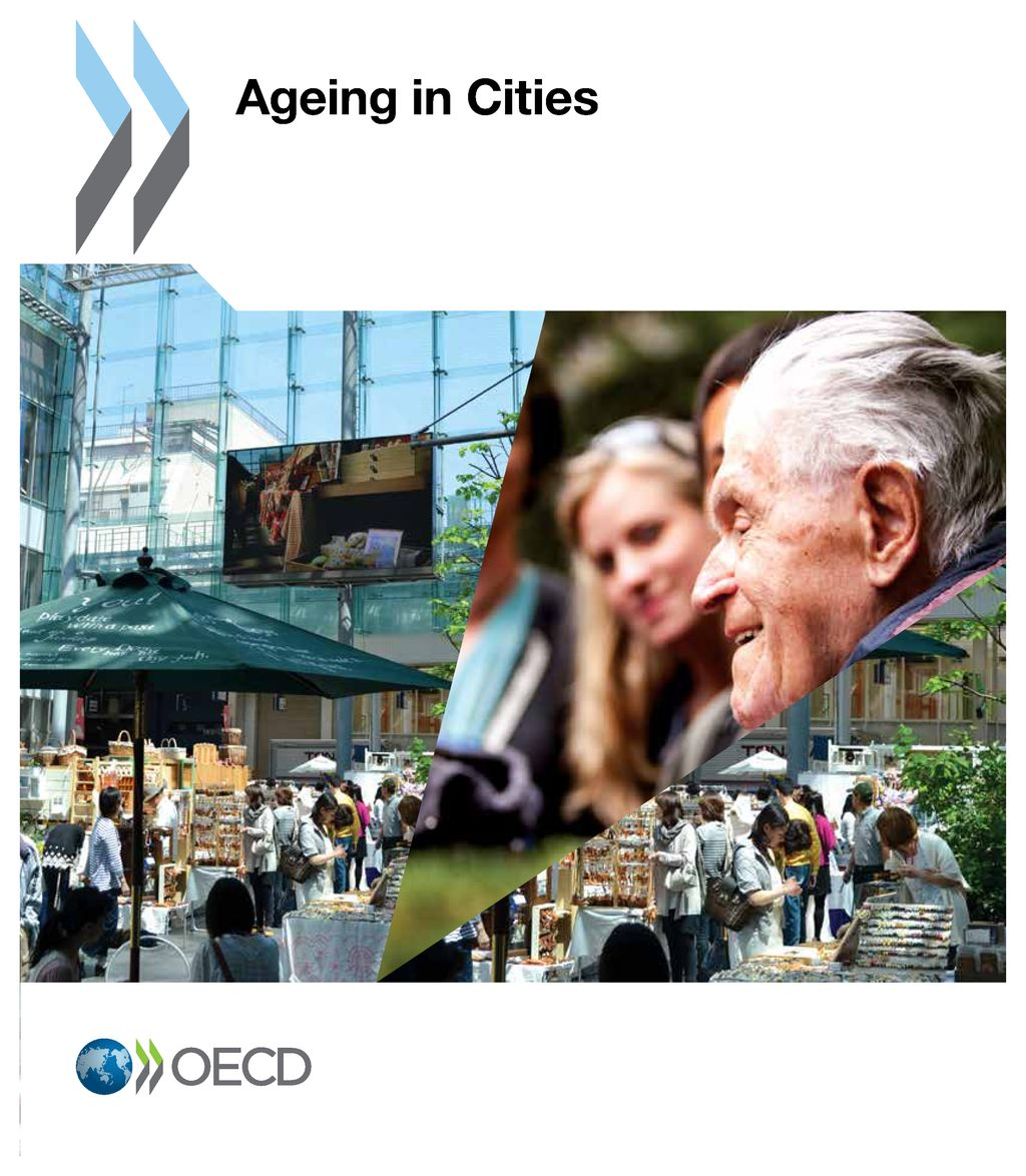 Collage of images related to Aging and Cities (Source: OECD Coverpage)