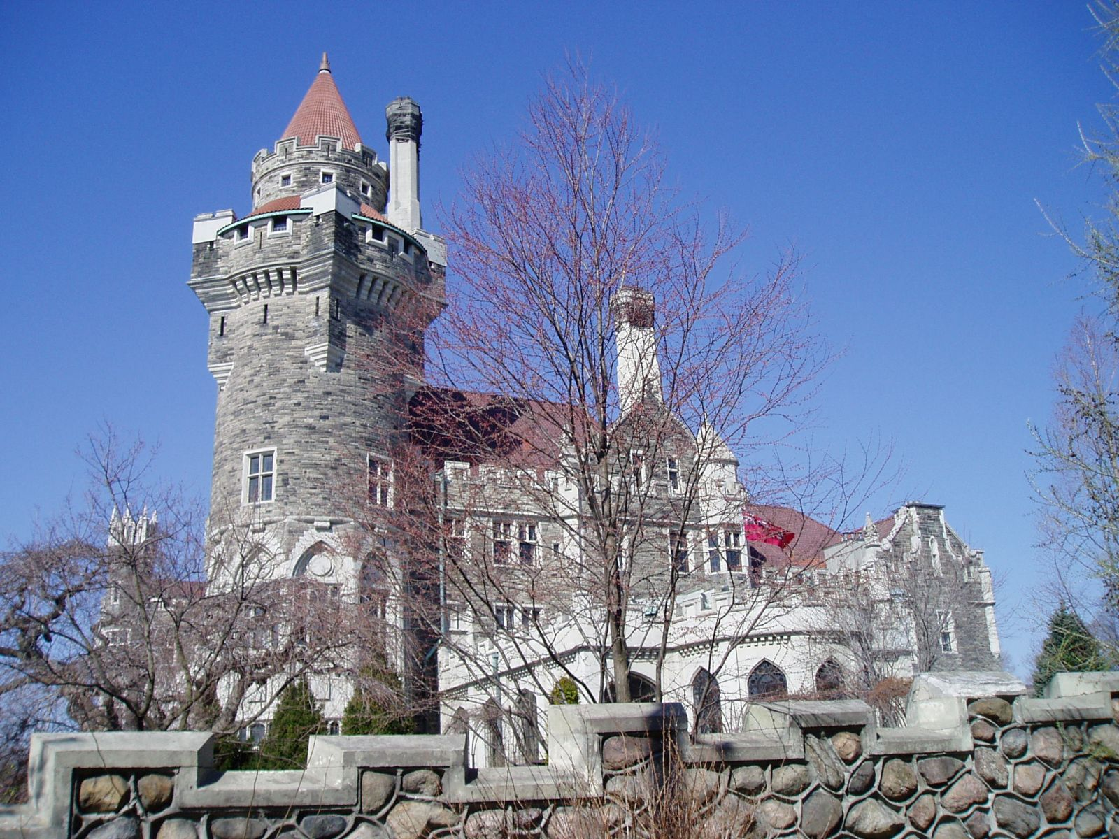 Exterior view of Casa Loma property
