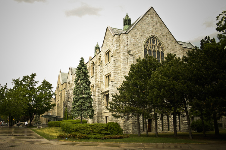 Exterior view of Douglas Library, Queen's University Campus Audit