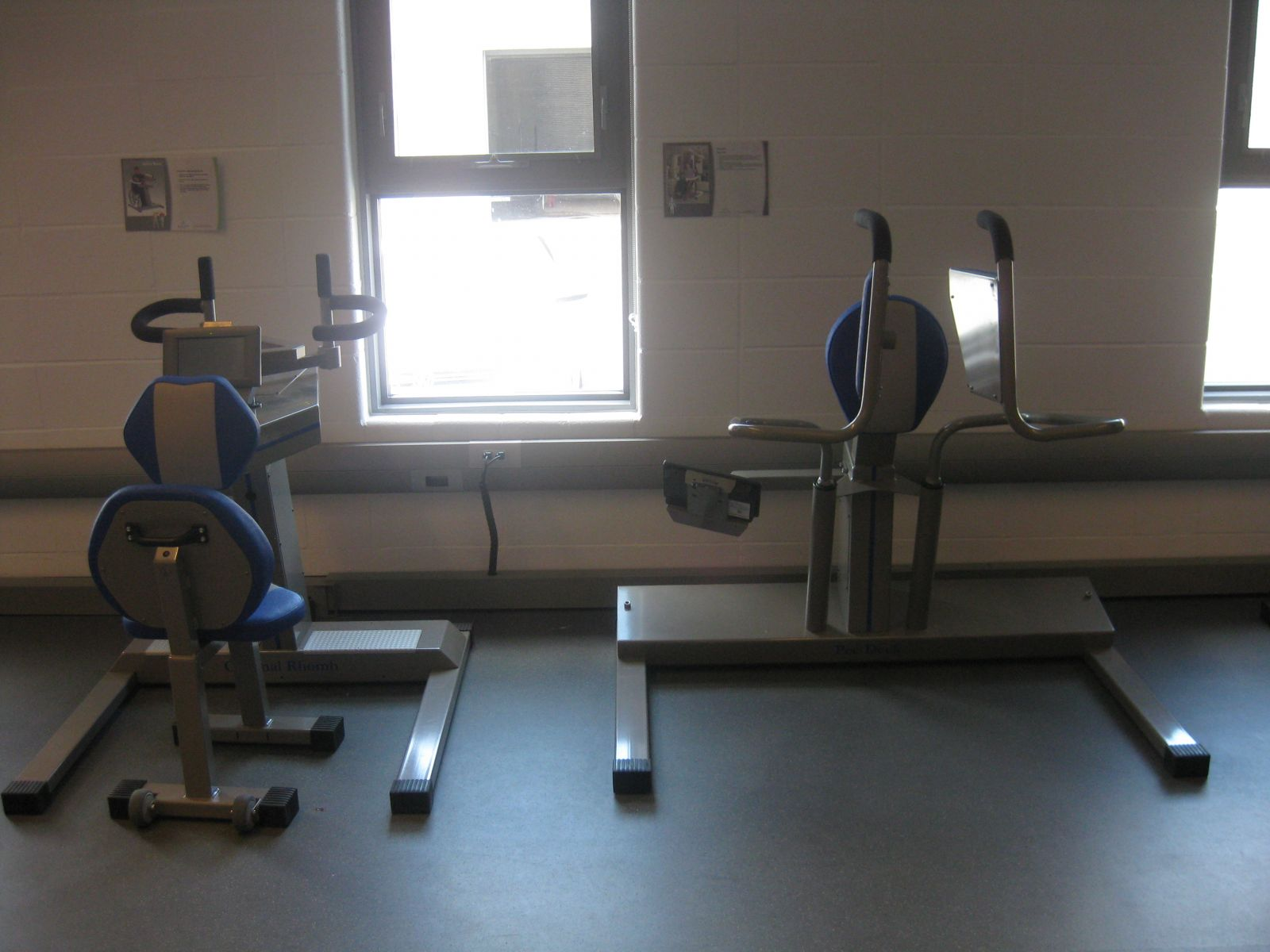Example of accessible fitness equipment.