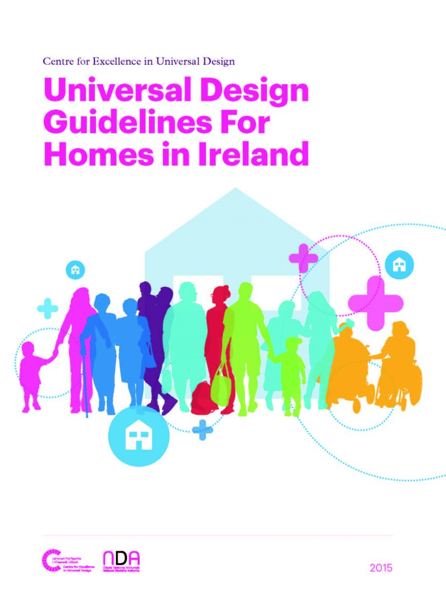 View of the coverpage for the Universal Design Guidelines for Homes in Ireland (Source:NDA)