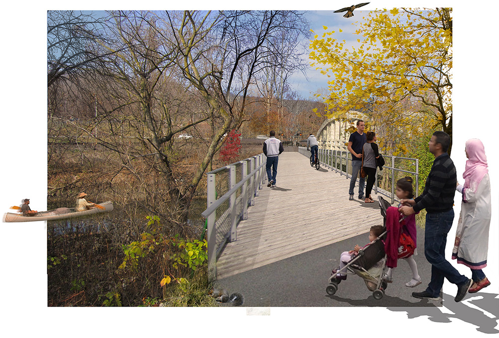 Rendering, Lower Don Trail Master Plan (Source: DTAH)