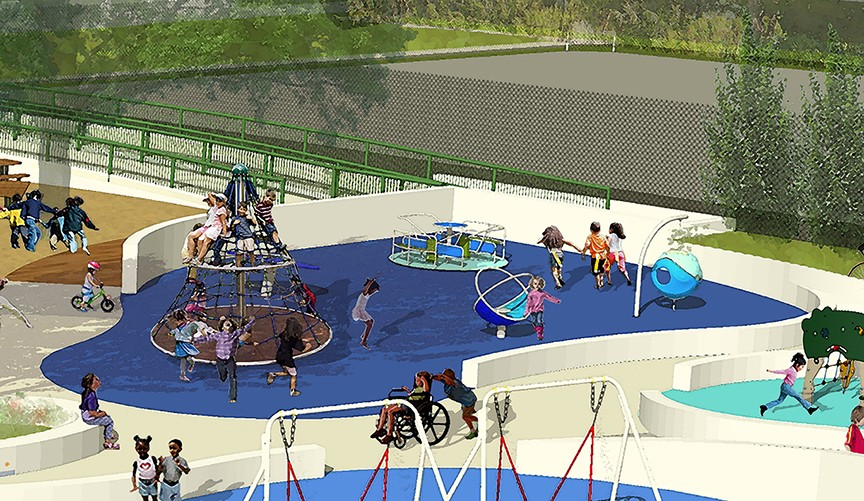 Rendering of Magical Bridge Playground (Credit: RHAA)