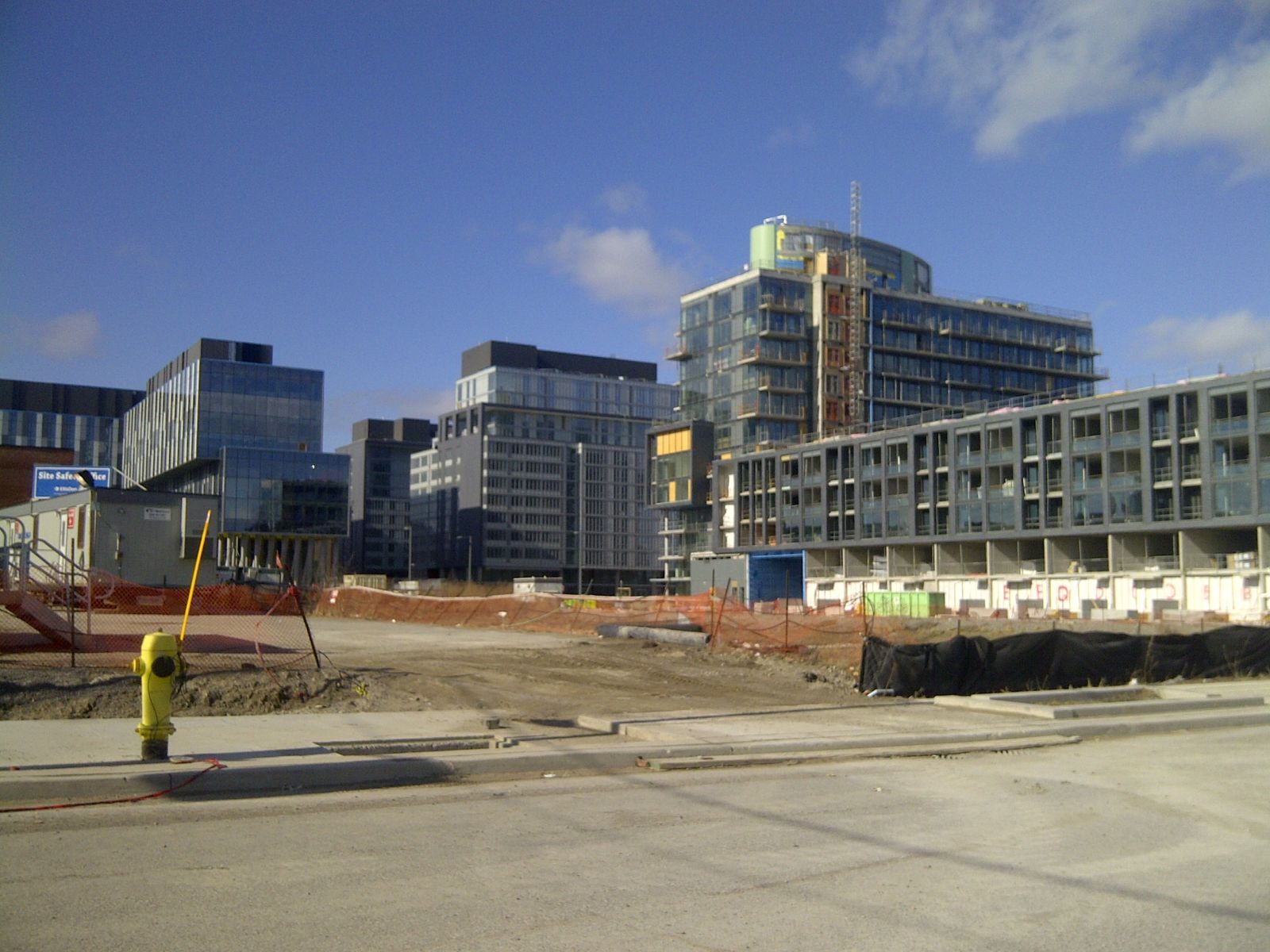 Photo of exterior of Pan Am Athletes' Village under construction