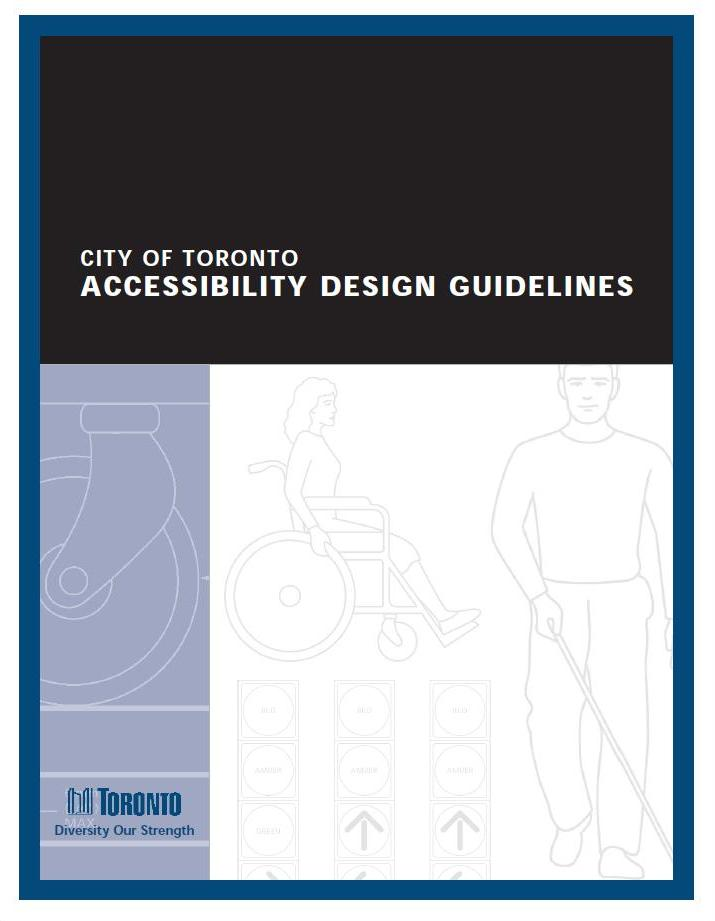Coverpage of the City of Toronto Accessibility Design Guidelines