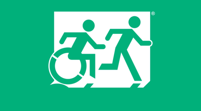 Accessible Exit Sign logo