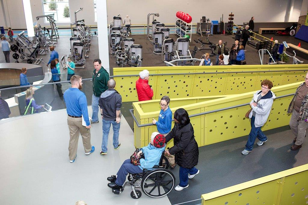 Accessible ramp inside the Mary Free Bed YMCA (Source: UB News Centre)